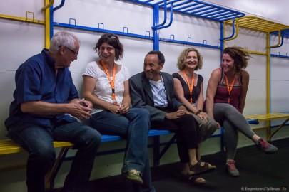 Discussion avec Pierre Rabhi et les Colibris à Avignon