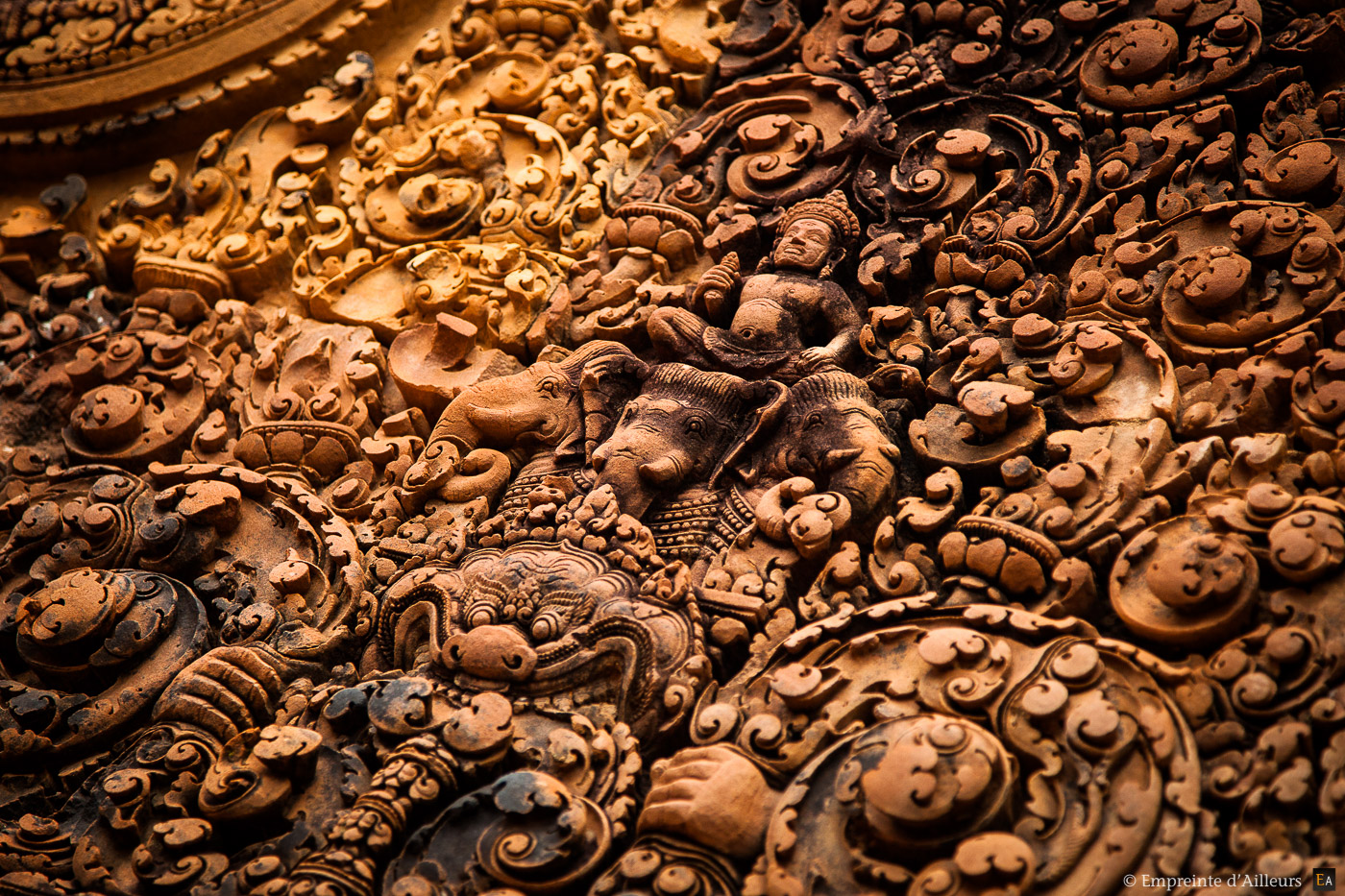 Bas relief Banteay Srei