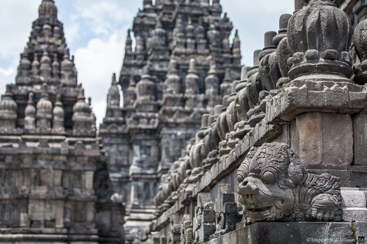 Bas relief du temple de Prambanan