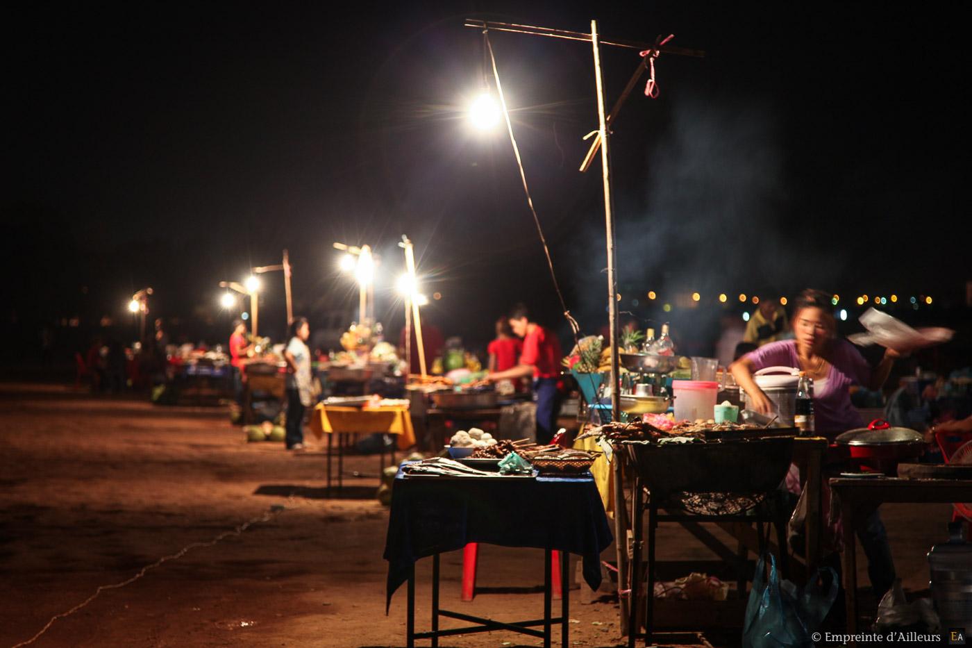 Echoppe de nuite Vientiane