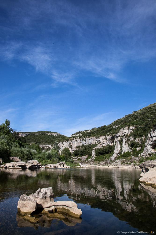 Instant paisible au bord des gorges du Gardon