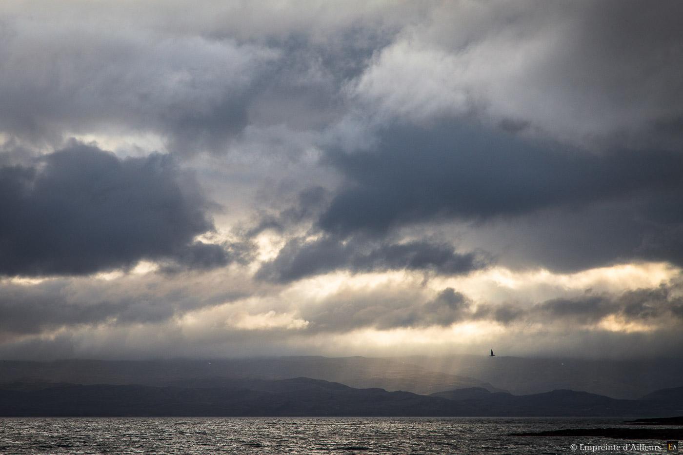 Fin de journée sur fjord