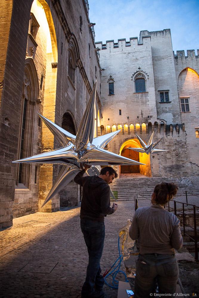 Equipe Aéro Sculpture dans le Palais