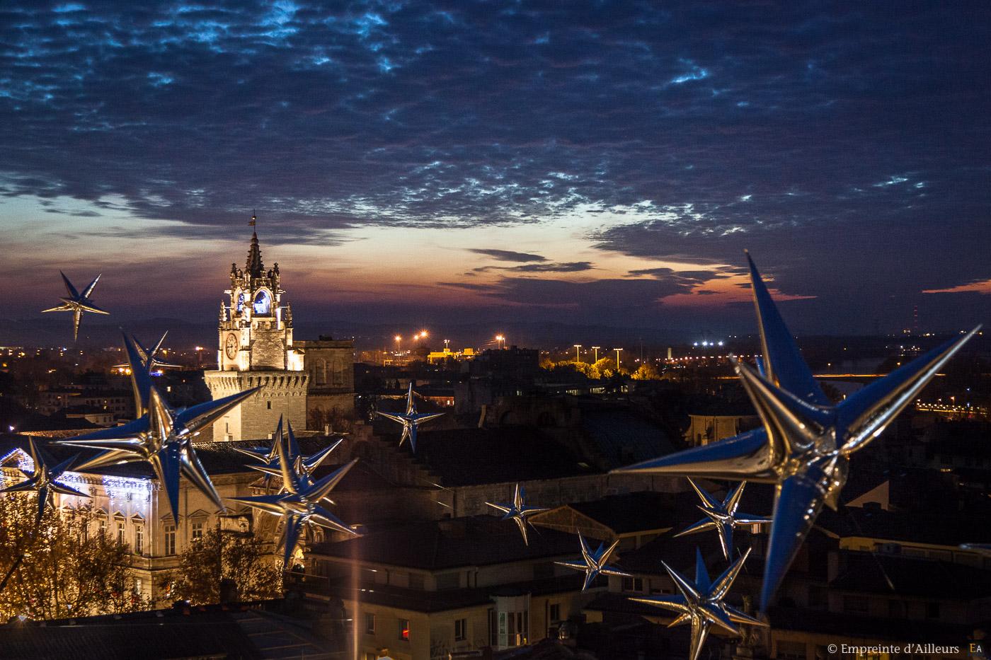 Vue des toits Avignon