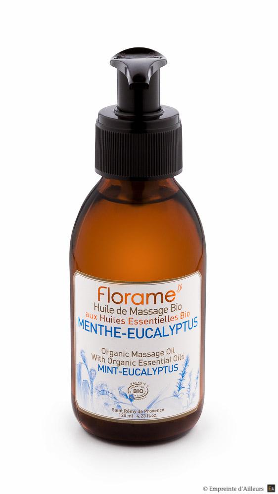Flacon huile de massage bio