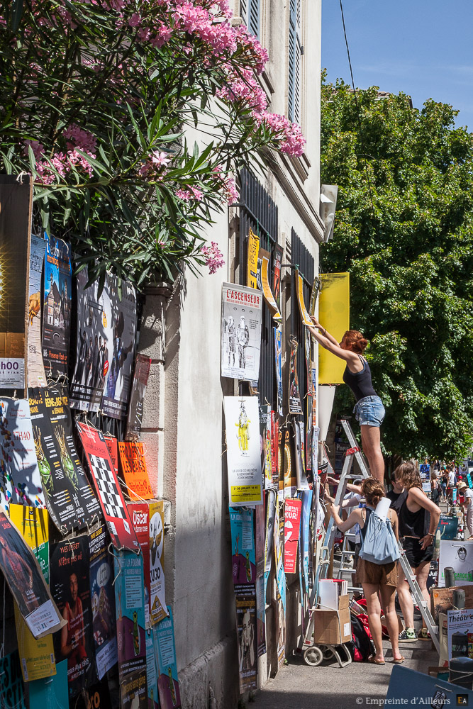 Affiches au Festival d'Avignon
