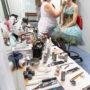 Salle de maquillage Opéra Traviata