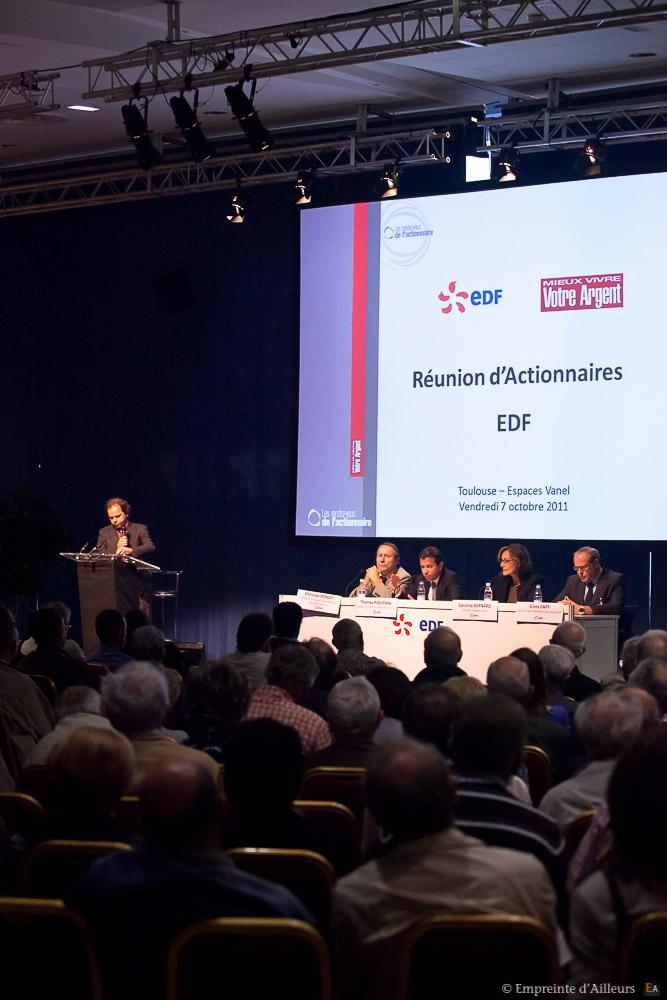 Congrès des actionnaires EDF à l'espace Vanel de Toulouse