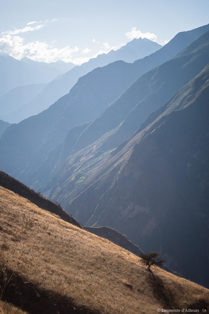 Lumière de fin de journée dans la vallée sacrée des Andes