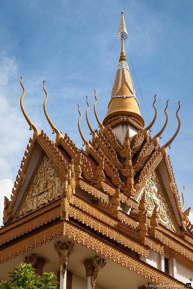 Toit d'un temple cambodgien