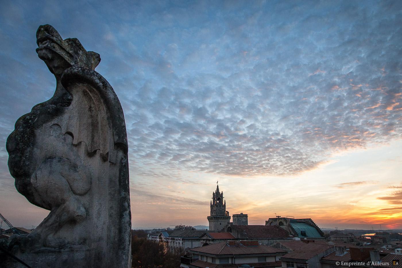 Vue des toits d'Avignon