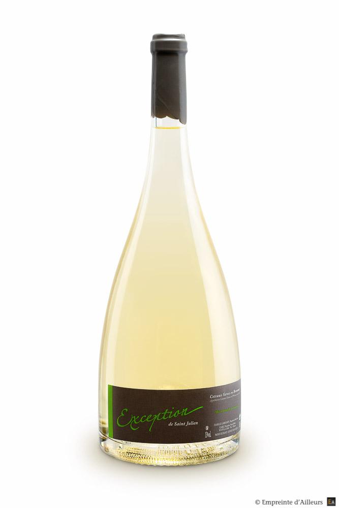 Bouteille de vin blanc