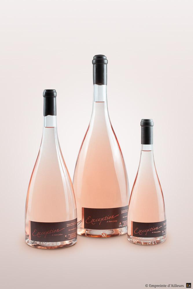 Bouteille de rosé, Magnum et Jéroboam