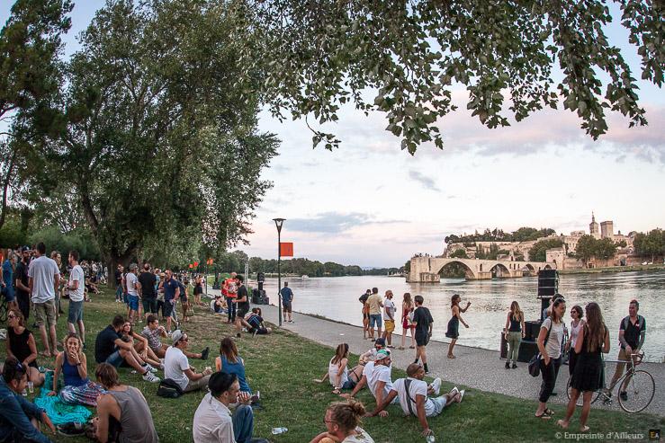 Festival Résonance devant le Pont d'Avignon