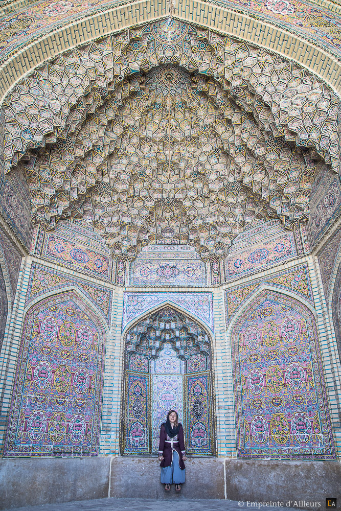 Voute de la Mosquée Rose Nasir al-Mulk
